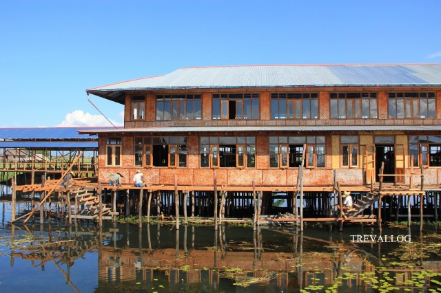 Construction in progress, Inle Lake, Myanmar