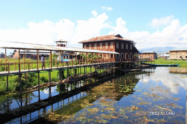 Wood building in Inle Lake, Myanmar