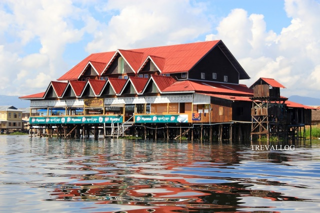 Restaurant in Inle Lake, Myanmar