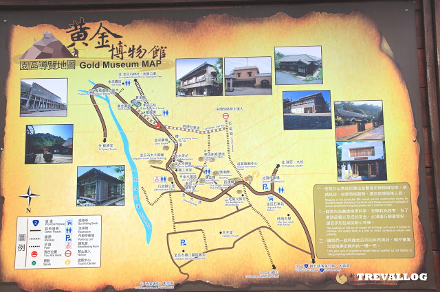 Map of Gold Museum at Jinguashi, Jiufen, Taiwan