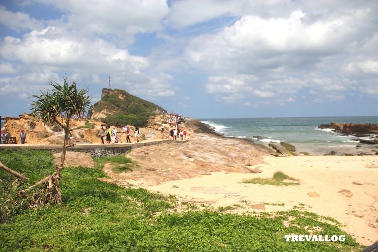 The coast at Yehliu Geopark, Taiwan