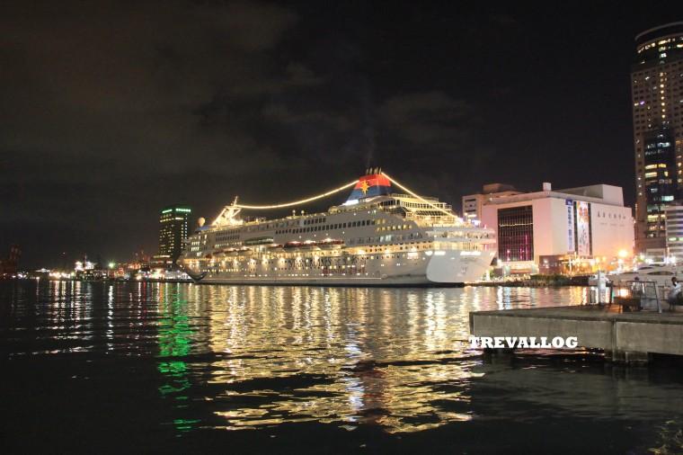 Cruise at Keelung Harbor at night, Taiwan