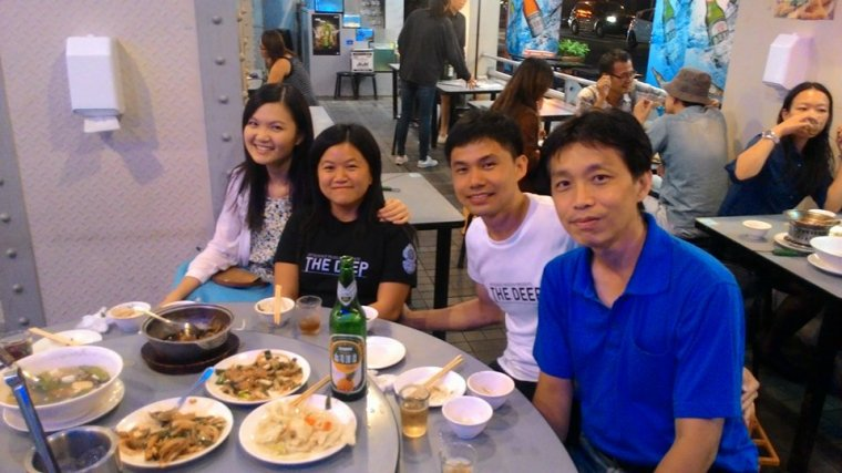 Dinner with our friends, Ruby and  at Ximending Taipei