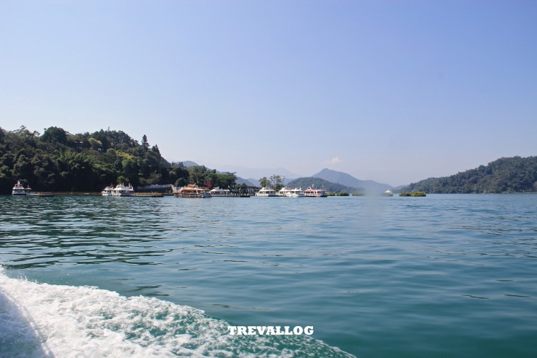 View during ferry ride at Sun Moon Lake, Taiwan