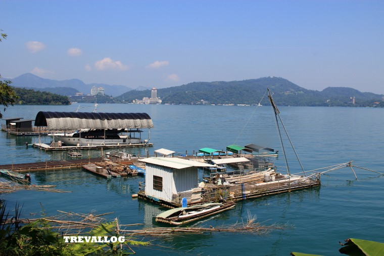 The view of the lake, on our way to Ropeway station, at Sun Moon Lake, Taiwan