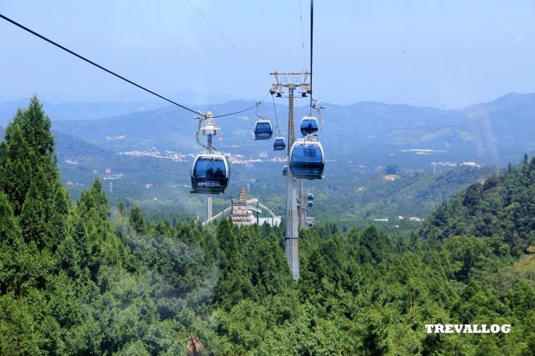 Skyline cable car of Formosan Aboriginal Culture Village, Ita Thao, Sun Moon Lake, Taiwan