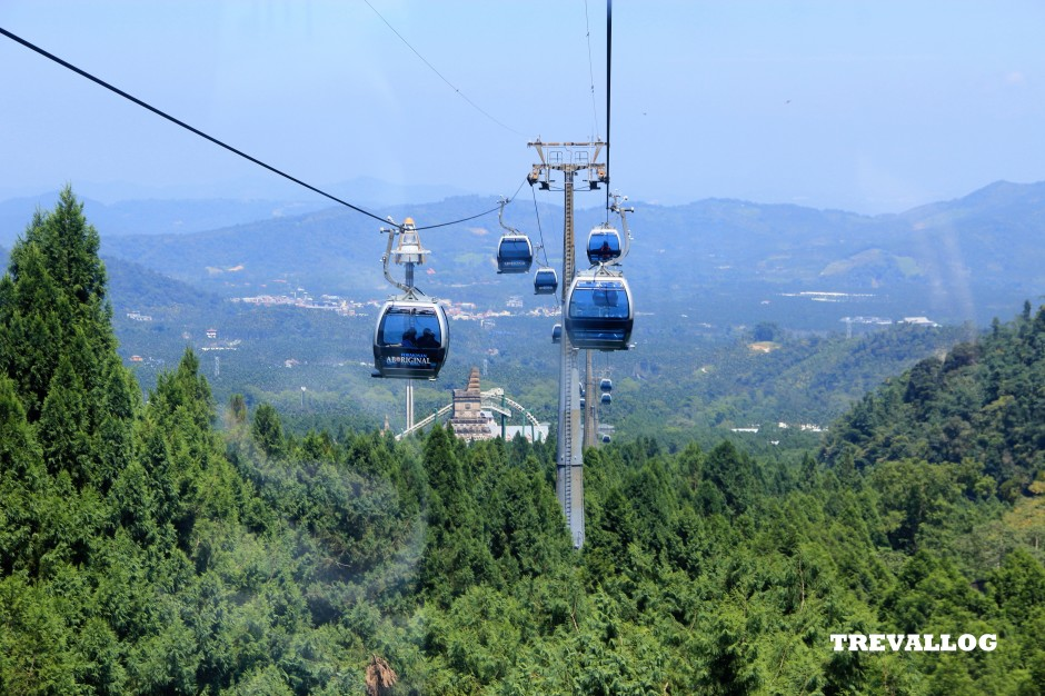 Skyline cable car of Formosan Aboriginal Culture Village, Ita Thao, Sun Moon Lake, Taiwan