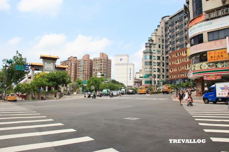 View outside Xinbeitou MRT, Taipei, Taiwan