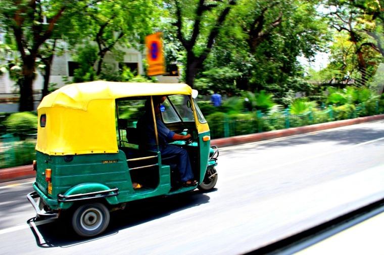 Rickshaw in New Delhi, India