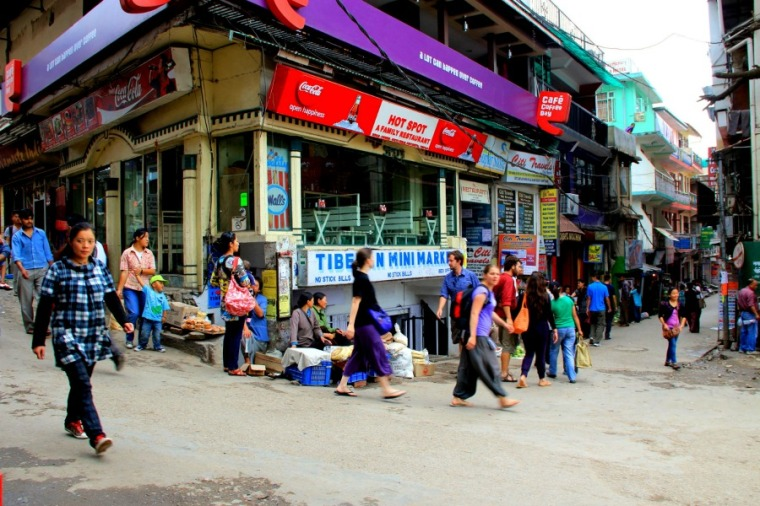 Main Square of McLeod Ganj, Dharamsala, India