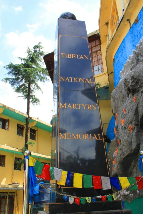 Tibetan National Martyrs' Memorial at McLeod Ganj, Dharamsala, India