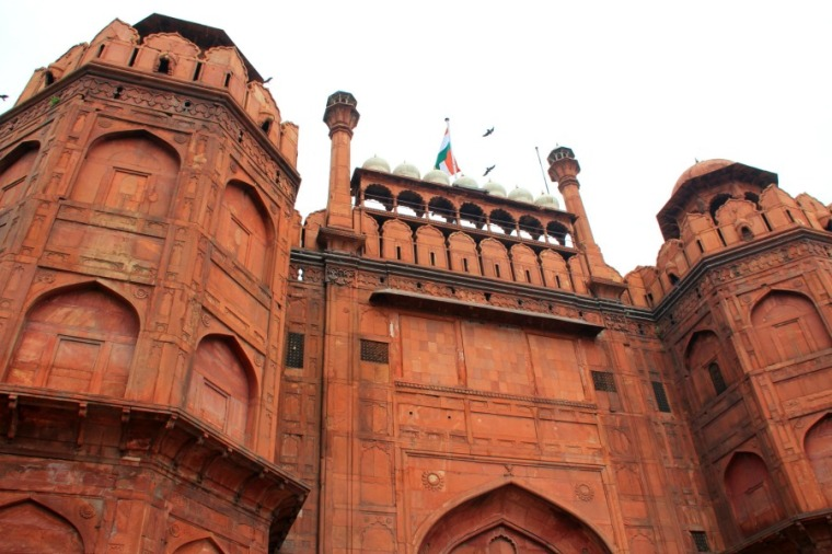 Entrance of Red Fort in New Delhi, India