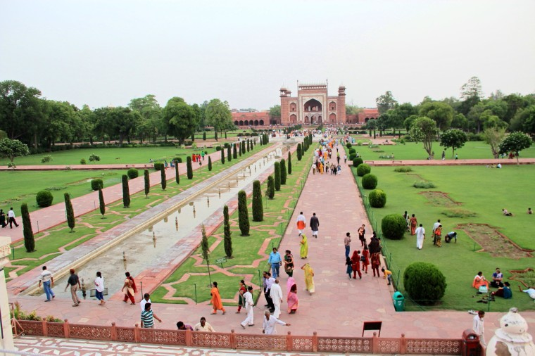 View of Garden from Taj Mahal, Agra, India