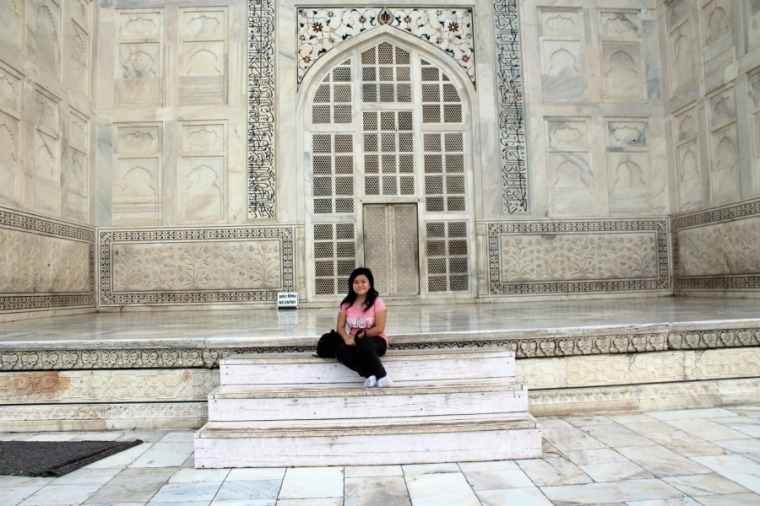 Hanging out at Taj Mahal, Agra, India