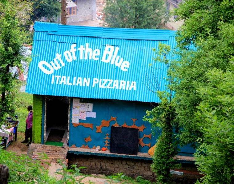 Out of the Blue Italian Pizzaria in Dharamkot, McLeod Ganj, Dharamsala, India