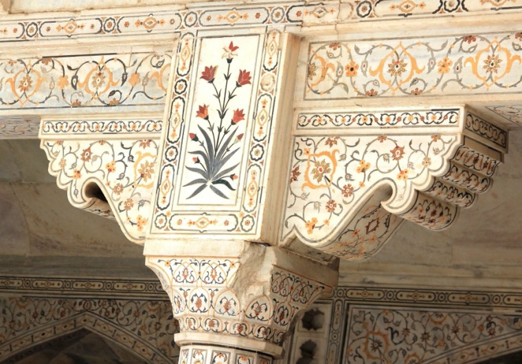 Marble Details at Agra Fort, Agra, India