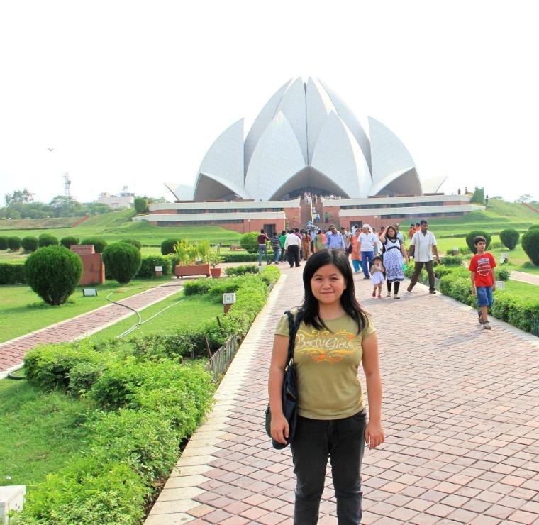 Bahai Lotus Temple in New Delhi, India