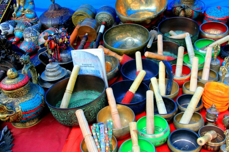 Prayer bowls at McLeod Ganj, Dharamsala, India
