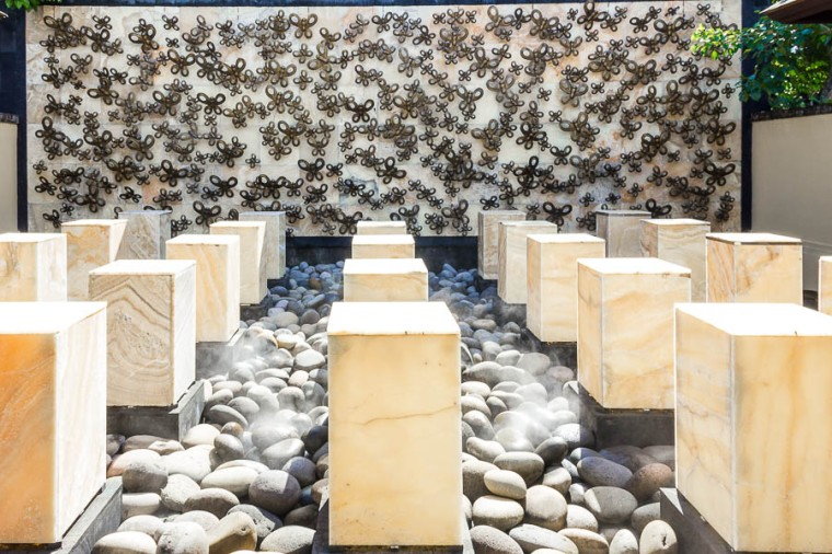 Butterfly wall at Remede Spa, St Regis Resort, Nusa Dua, Bali