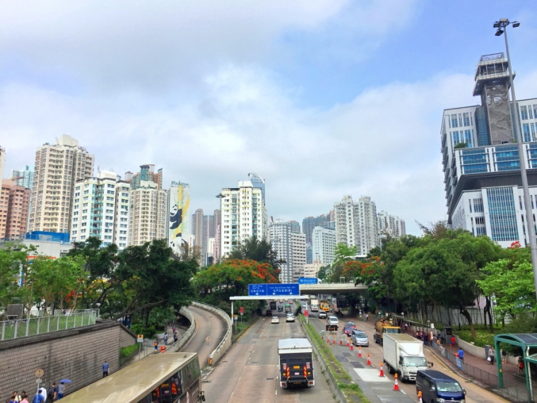 bridge at Tai Wo Hau MTR station