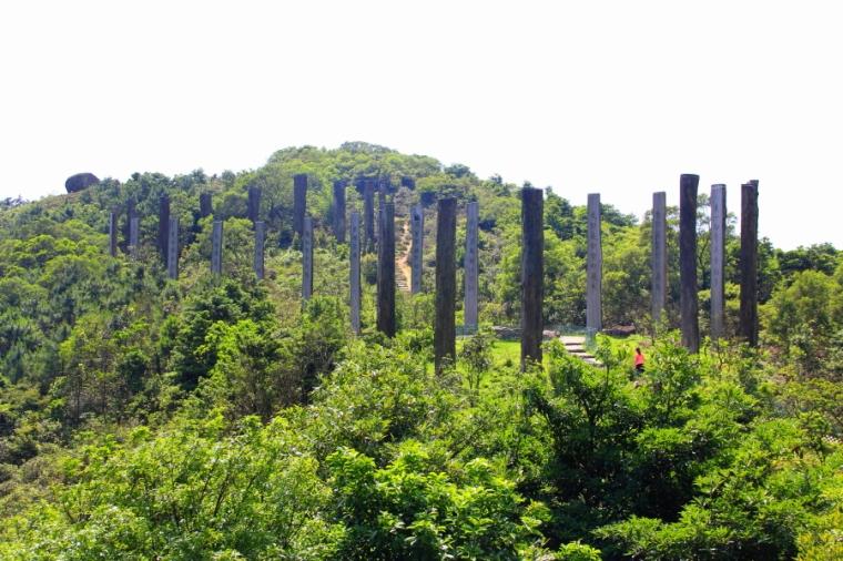 Ngong Ping village, Wisdom Path, Lantau Peak Trail, Hong Kong