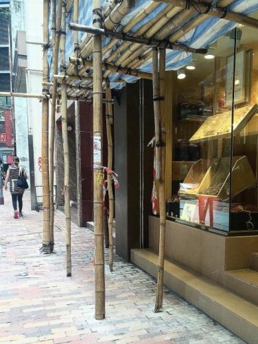 Bamboo scaffolding at Hong Kong