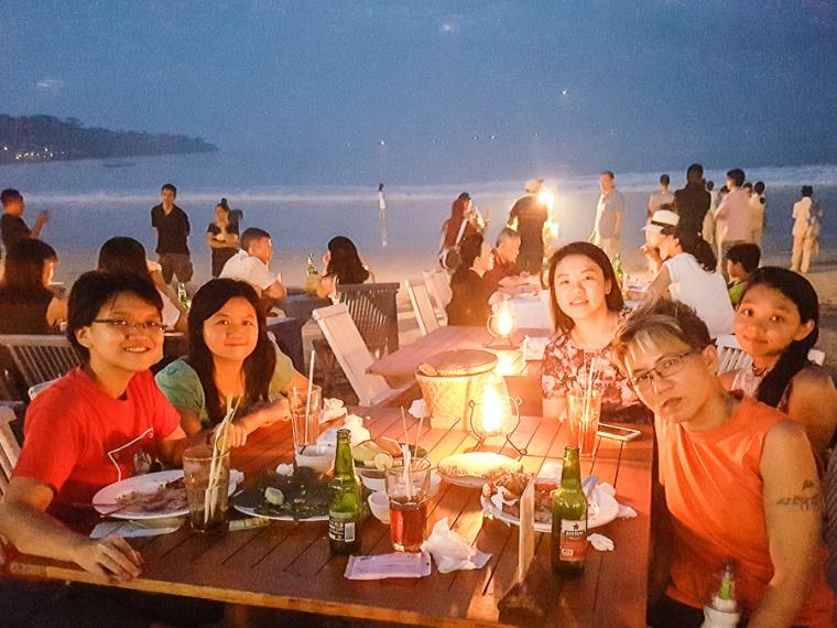 Group photo, Menega Cafe, Muaya Beach, Jimbaran, Bali