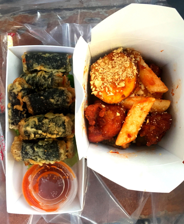 Seaweed dumpling and chicken bites from Kelly's Cape Bop, Wan Chai, Hong Kong