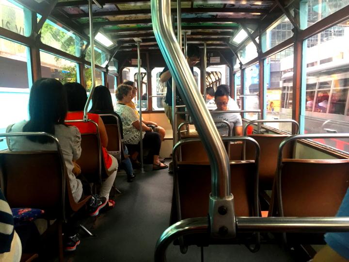 Inside of Tram, Hong Kong