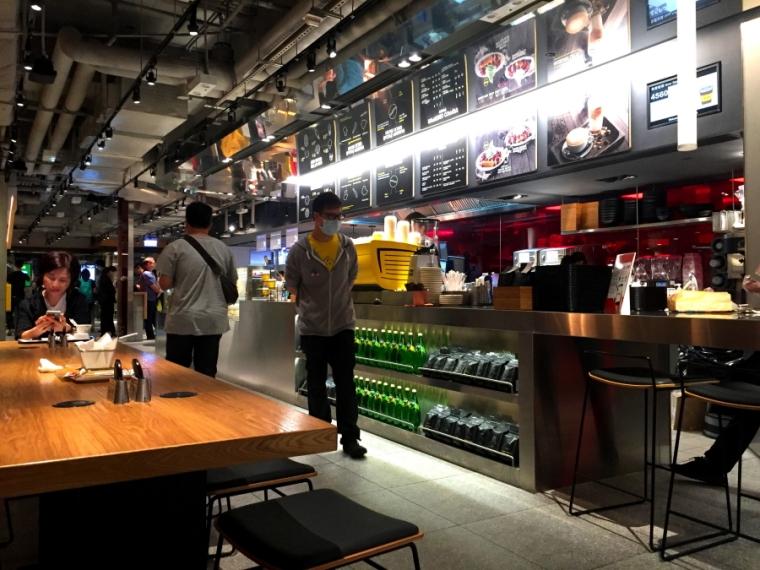 Interior of McD Next at Admiralty Centrei, Hong Kong