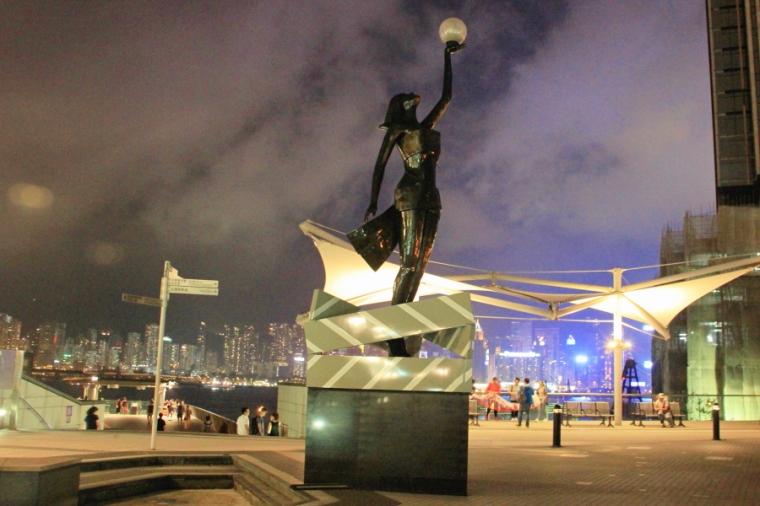 Hong Kong Film Awards sculpture at Garden of Stars, Tsim Sha Tsui, Hong Kong