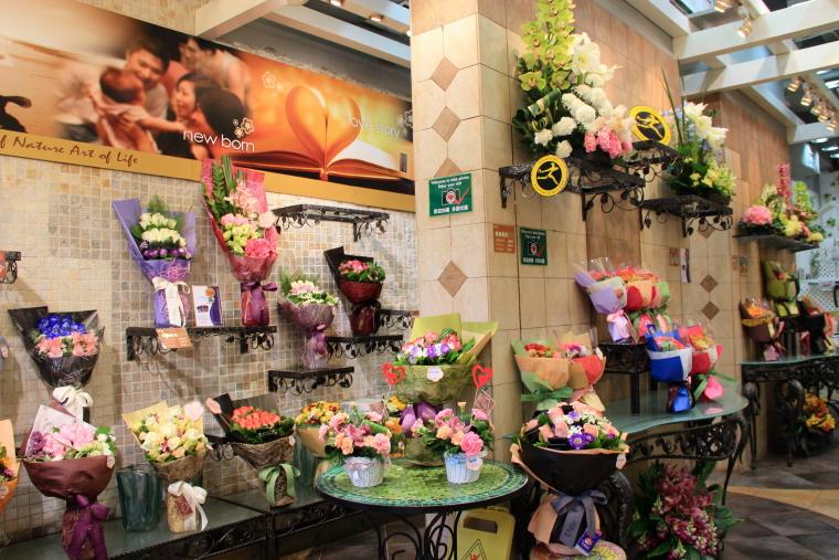 Brighten shop bouquets, Flower Market, Hong Kong
