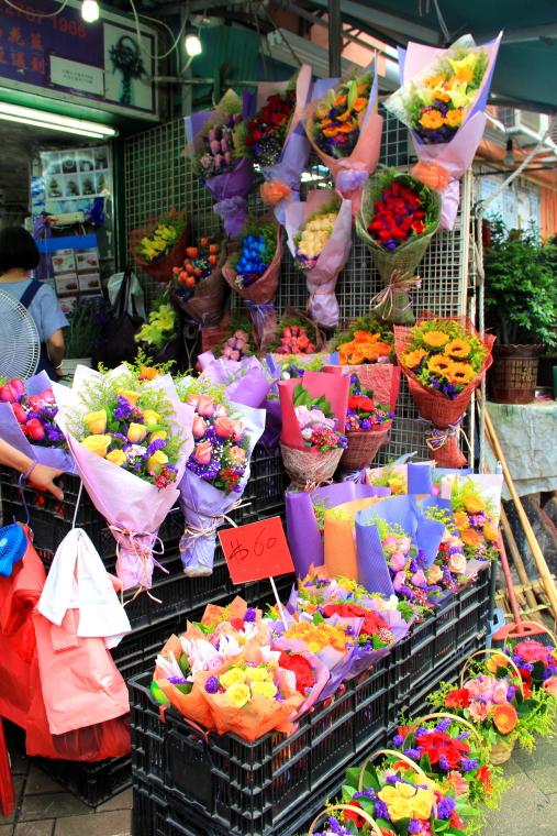 Bouquets, Flower Market, Hong Kong