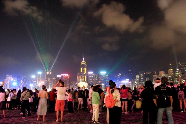 Symphony of Lights, Victoria Harbour, Tsim Sha Tsui, Hong Kong