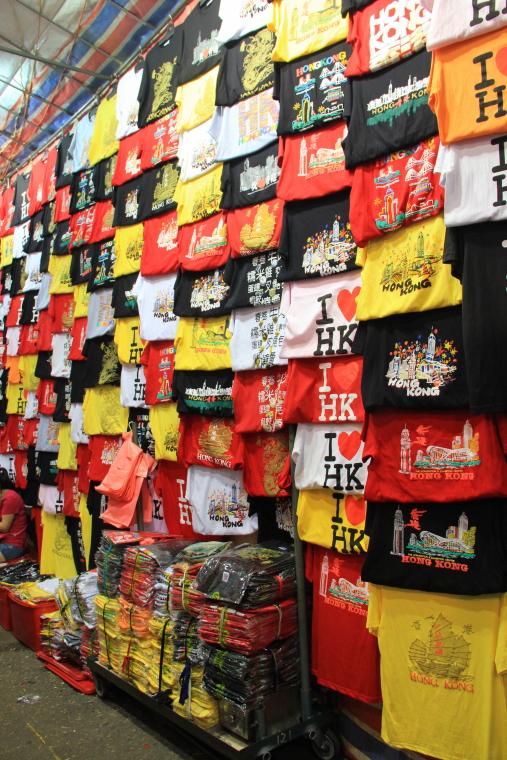 I love HK T-shirts at Ladies' Market, Mongkok, Hong Kong