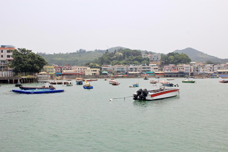 View at jetty of Lamma island, Hong Kong