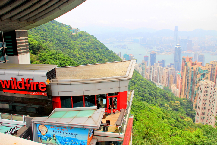 Wildfire the peak tower, view from Rooftop at The Peak Galleria, Hong Kong