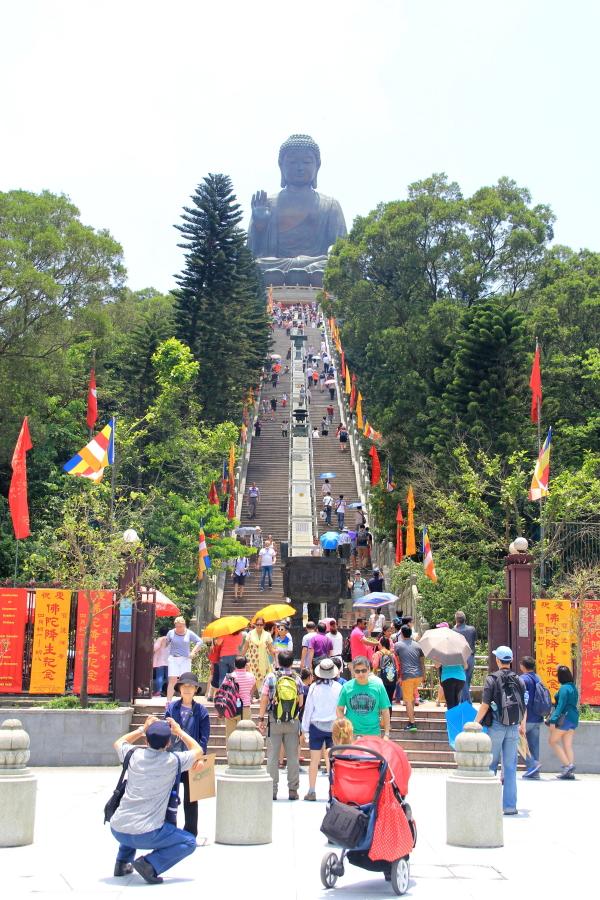 Ngong Ping village, Tian Tian Buddha, the Big Buddha, Hong Kong