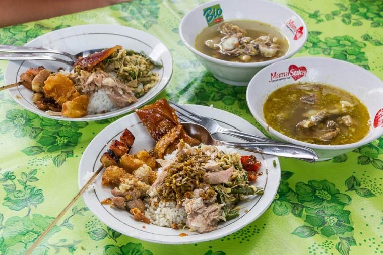 Food of Warung Babi Guling Pak Dobiel, Nusa Dua, Bali