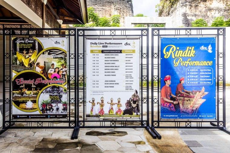Schedule of performances at Garuda Wisnu Kencana GWK, Bali