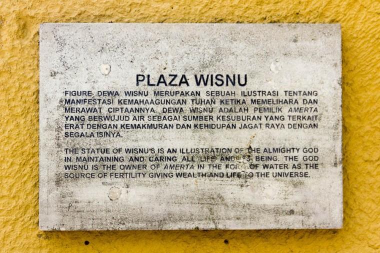 Description of Plaza Wisnu at Garuda Wisnu Kencana GWK, Bali