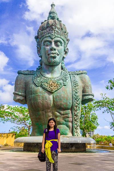 Wisnu's statue at Garuda Wisnu Kencana GWK, Bali