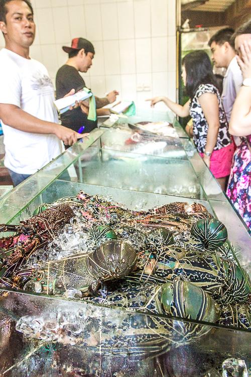 Order seafood, Menega Cafe, Muaya Beach, Jimbaran, Bali