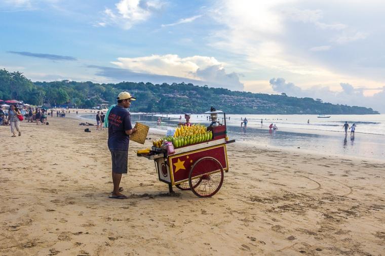 Grilled corn, jagung bakar, Muaya Beach, Jimbaran, Bali