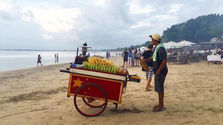 Grilled corn, jagung bakar, at Jimbaran, Bali, Indonesia