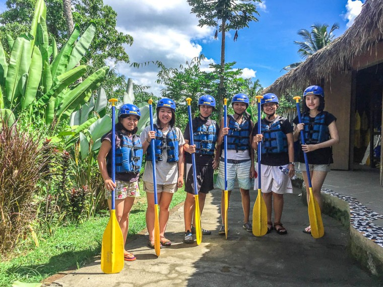 Getting Ready - Sobek Rafting at Ayung River, Ubud, Bali