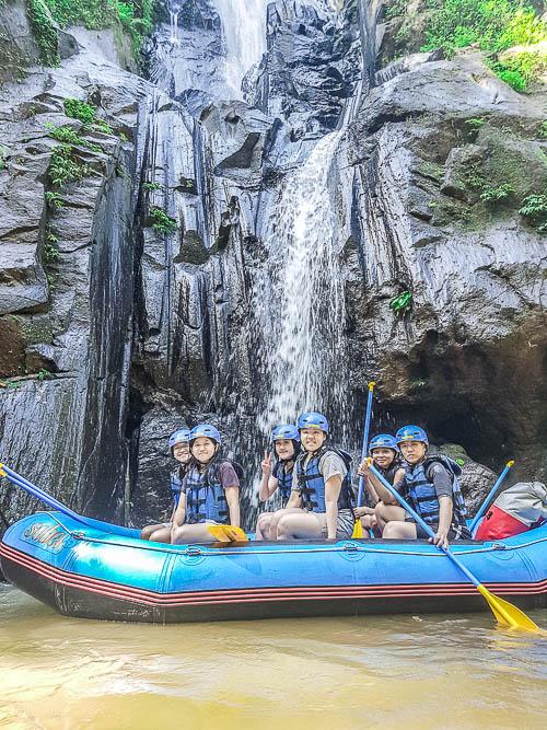 Waterfall - Sobek Rafting at Ayung River, Ubud, Bali
