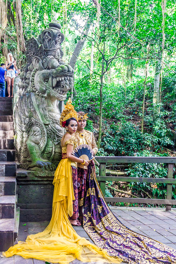Wedding photo at Monkey Forest Ubud, Bali