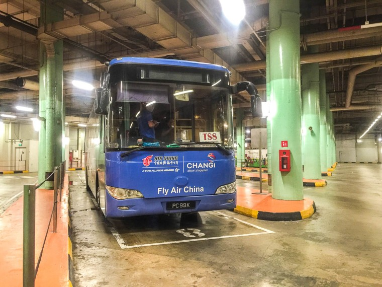 Bay 7 and 8 for Bus TS8 from resort world sentosa singapore to johor bahru