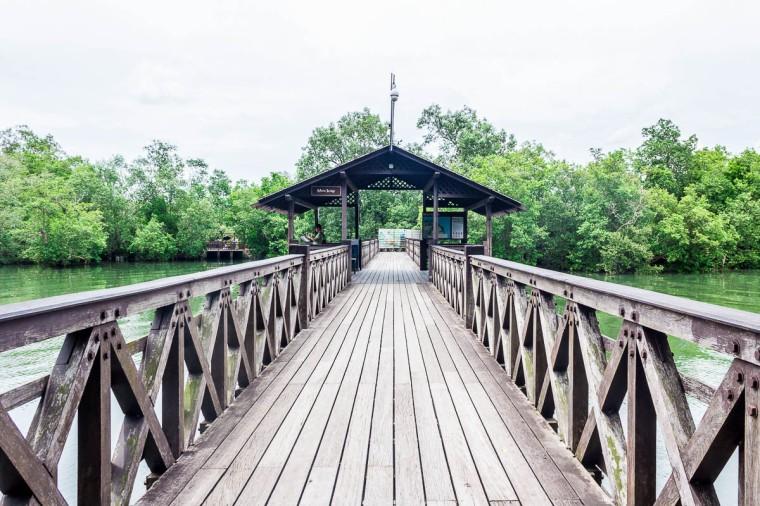 Main bridge, Migratory Bird Trail, Sungei Buloh Wetland Reserve, Kranji Countryside, Singapore